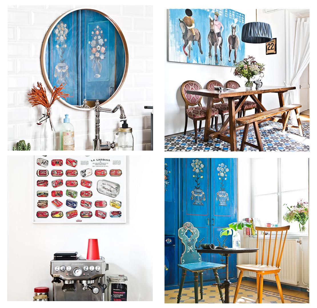 eklektický styl vintage nábytek