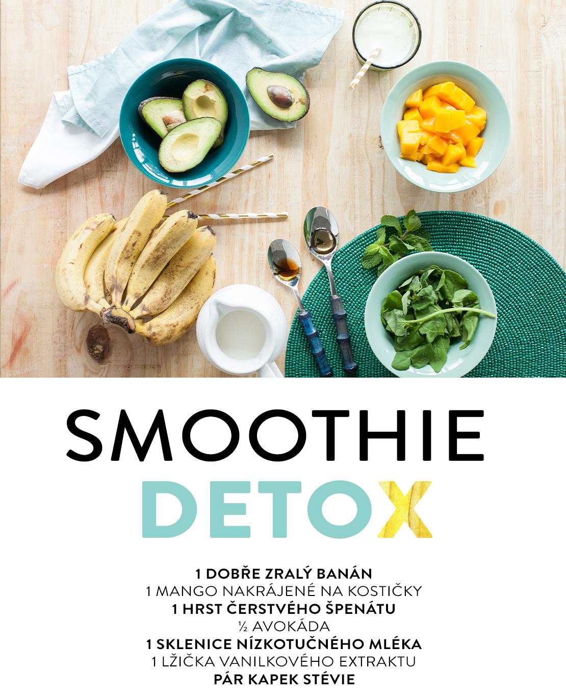 detoxikační smoothie recepty s avokádem