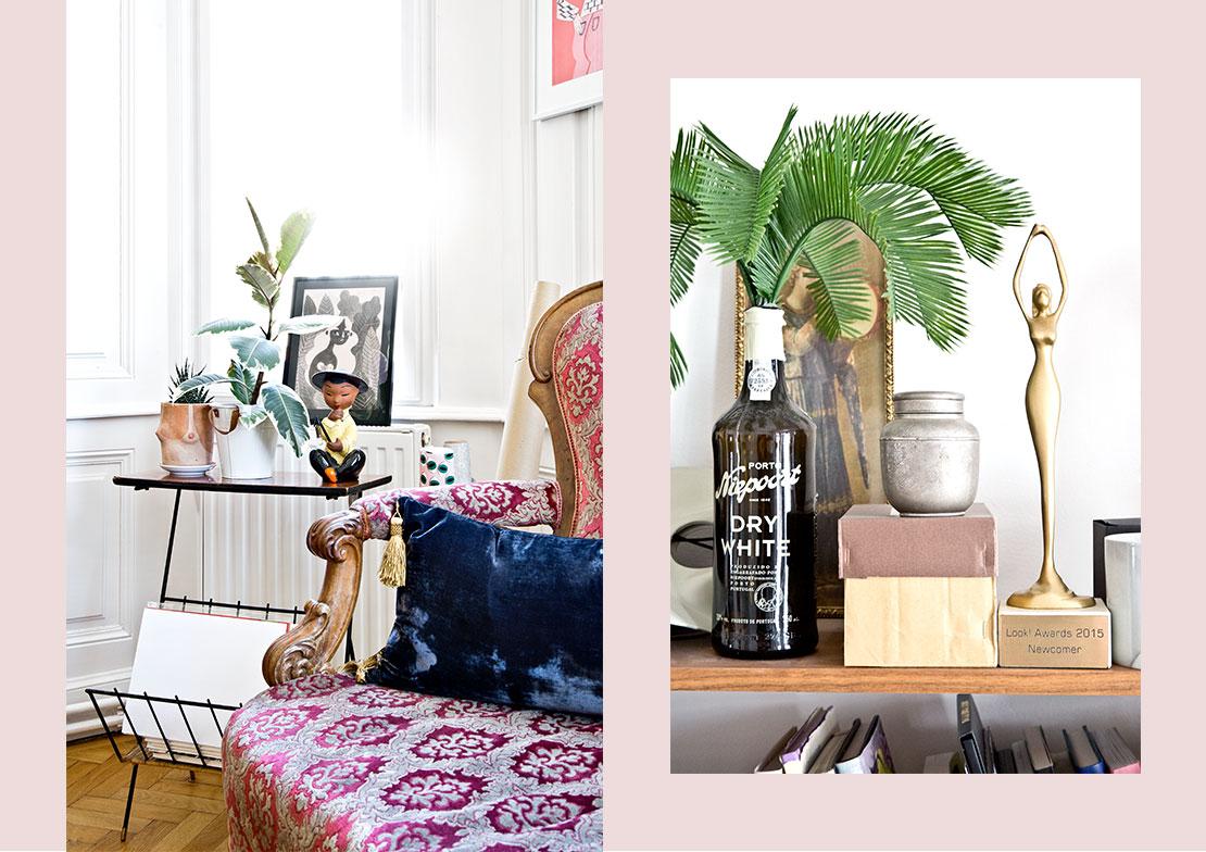 laura karasinski Wohnzimmer beistelltisch accessoires