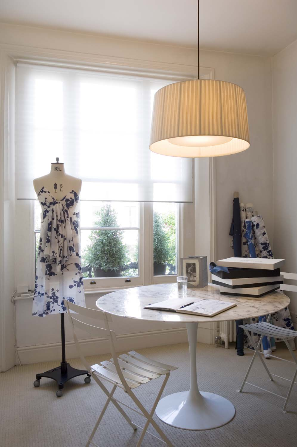 Notting hill live-work unit of London fashion designer