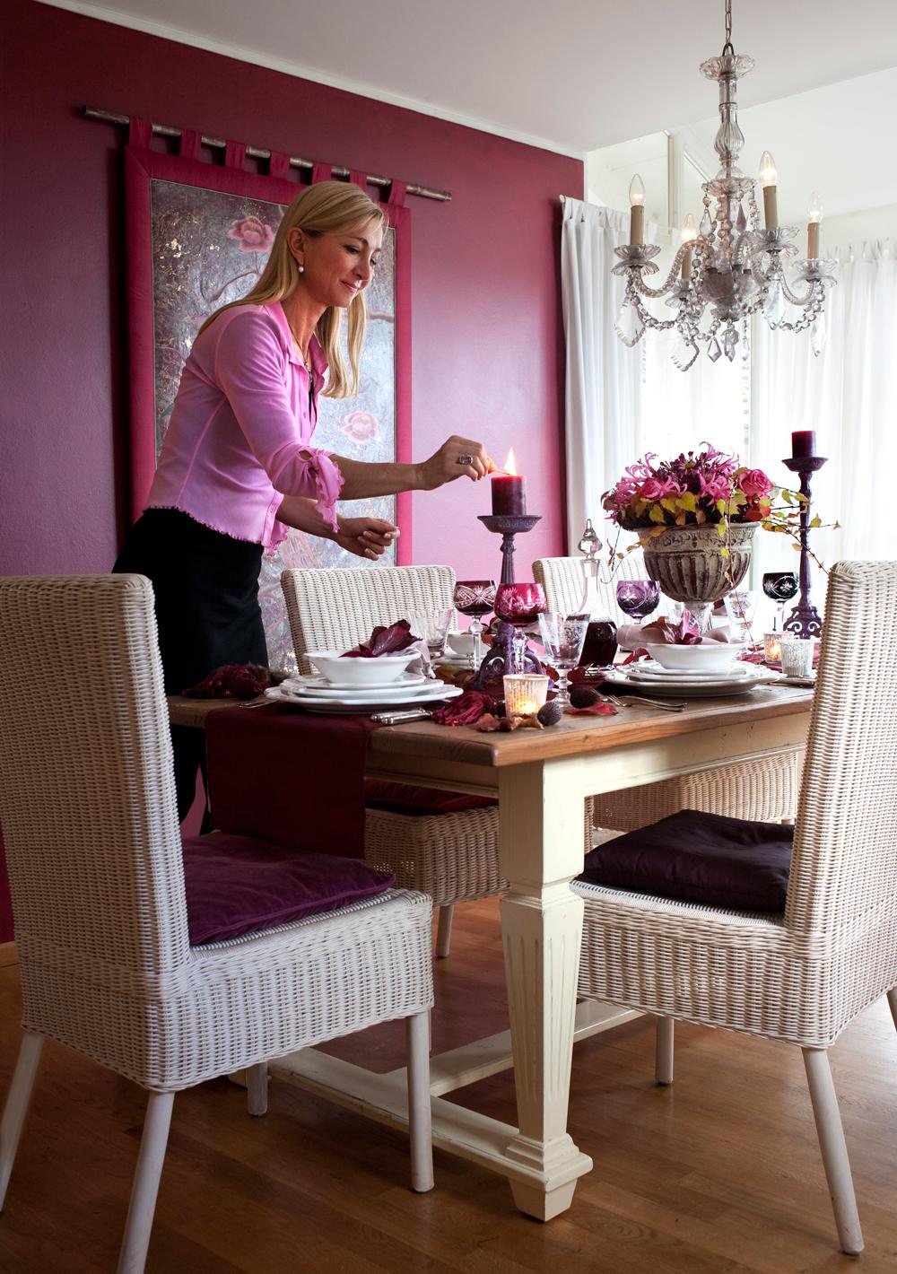 Gedeckter Tisch bei Petra Mitterer