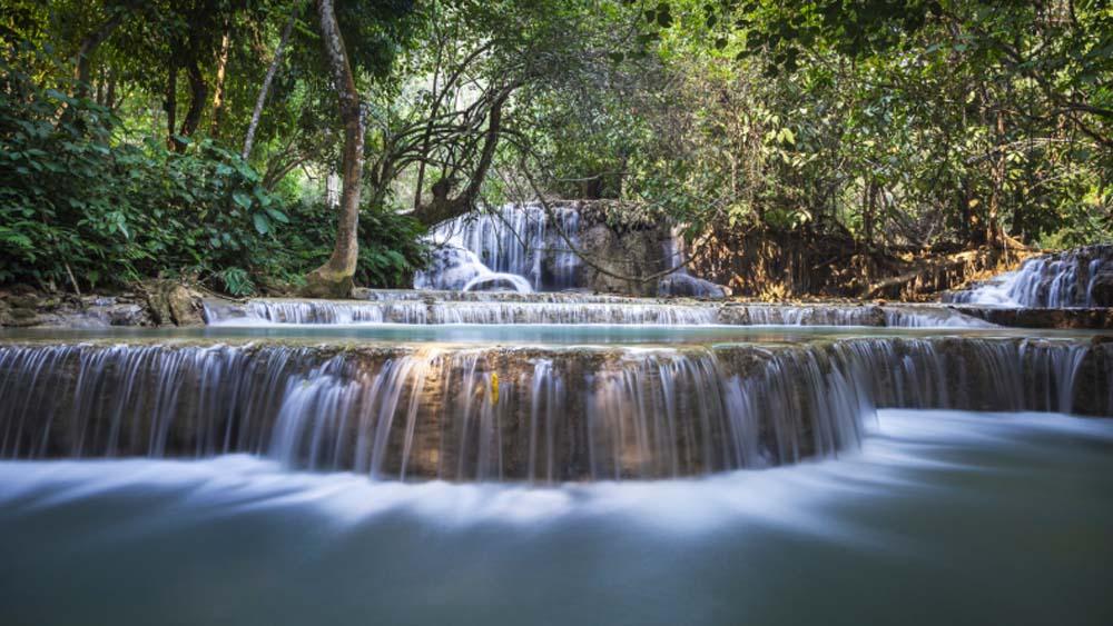 Wasserfall Indochina Buddha