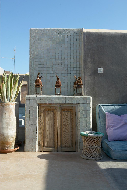 Terrasse groß Marrakech