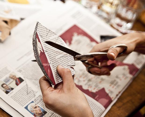 Weihnachts-Deko aus Papier