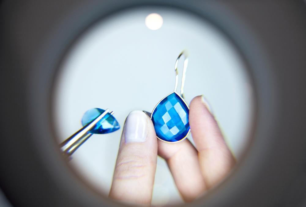 Gemshine Ohrringe blau