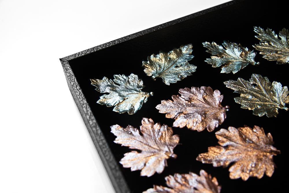 versilberte Blätter Gemshine