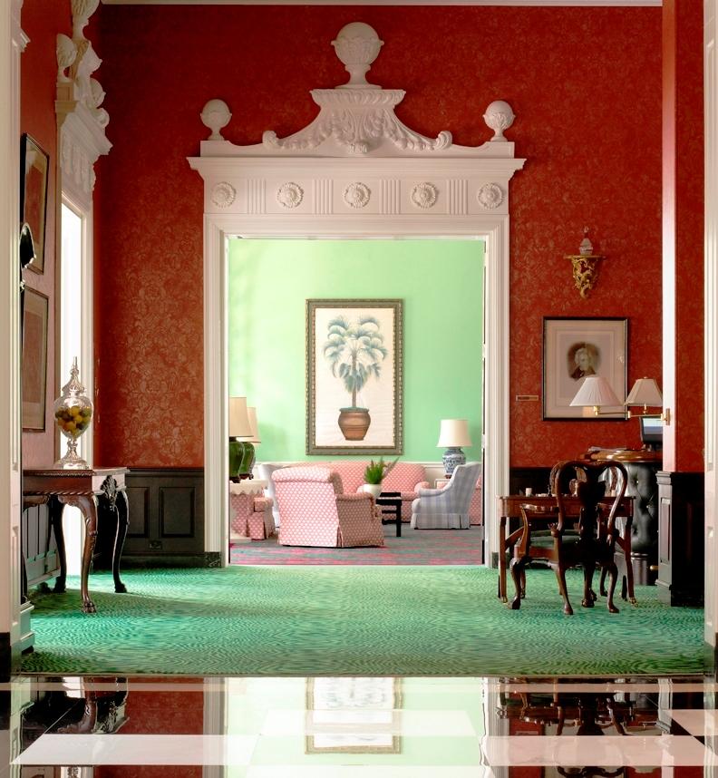 Greenbrier Lobby - Michel Arnaud - Pediment door