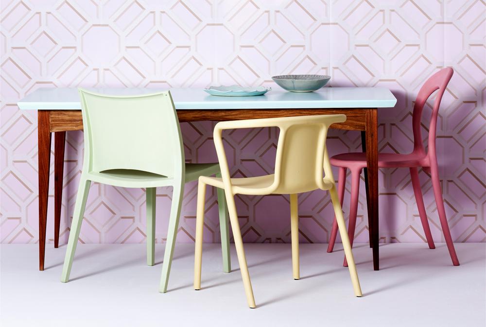 Pastellfarben Stühle