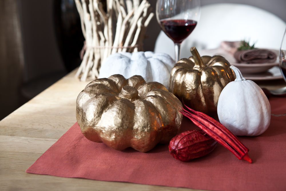 Herbstliche Tischdeko
