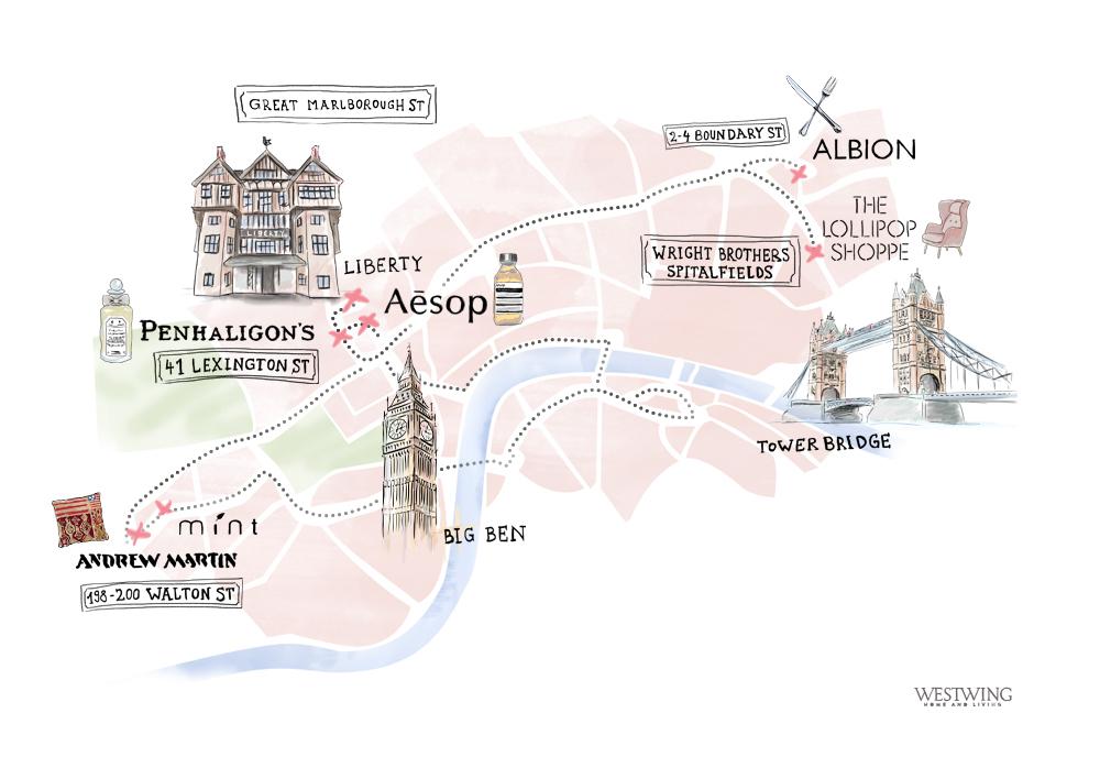 Stadtplan Map London Illustration