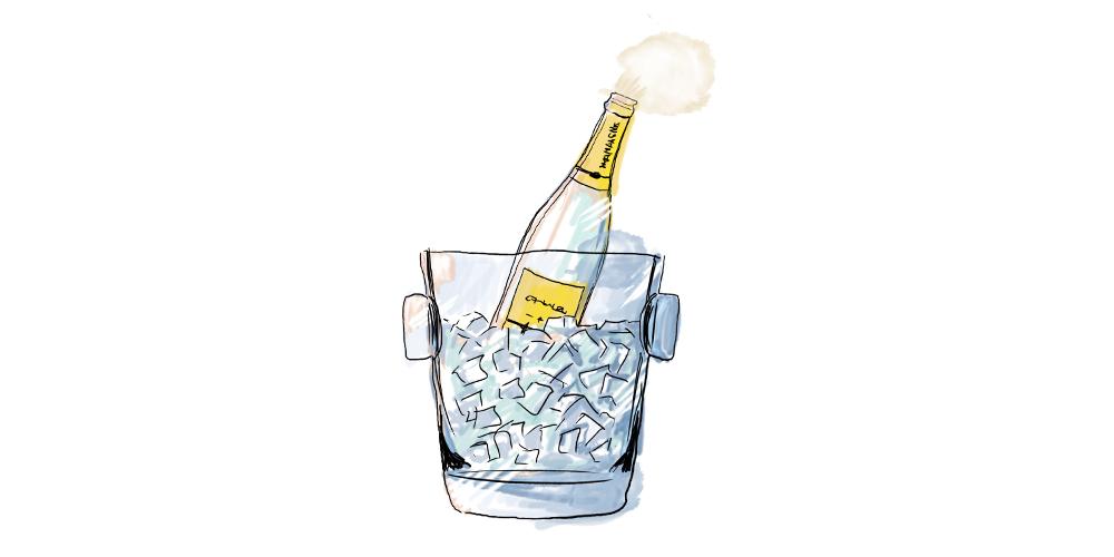 Abschlämmen Champagner