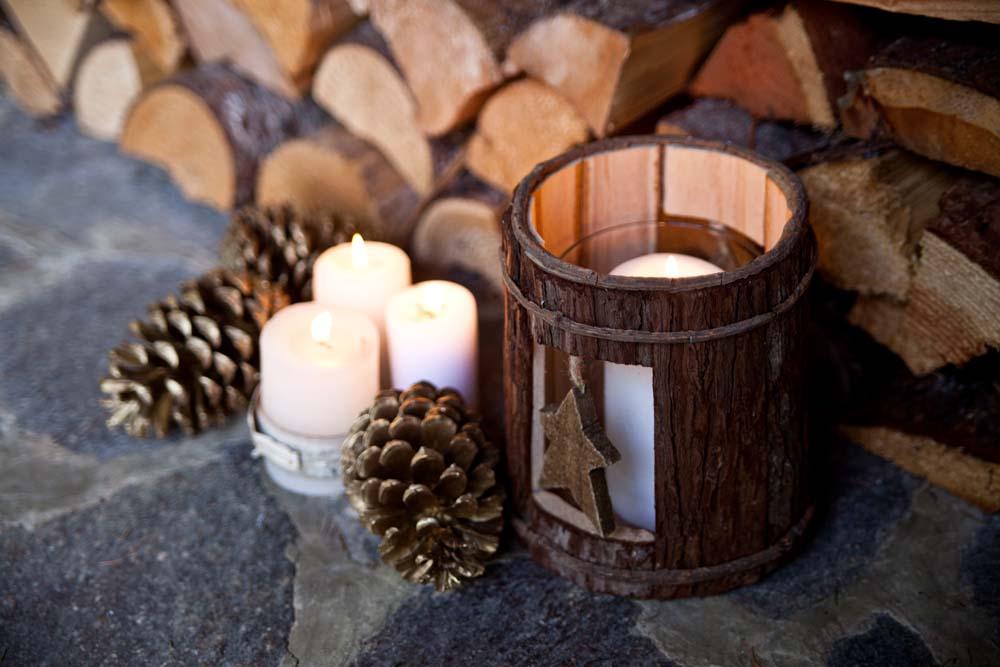 Weihnachtliche Hütte in Tirol in Wattens