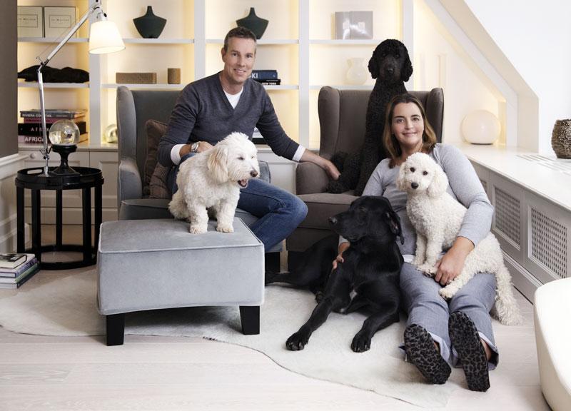 Familie Schröder mit Hunden