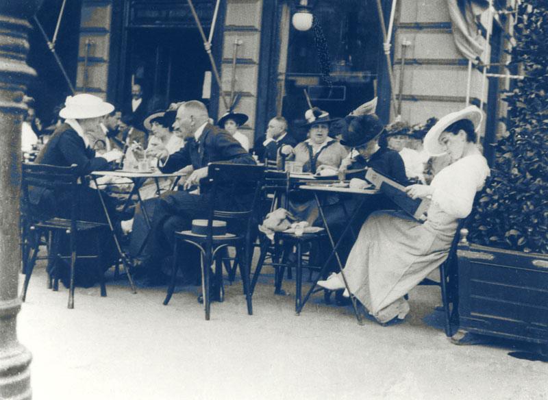 Wiener Kaffeehauskultur Bild damals