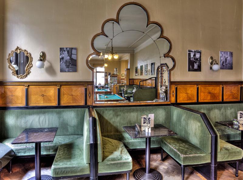 Wiener Kaffeehäuser Café Goldegg grüne Polster