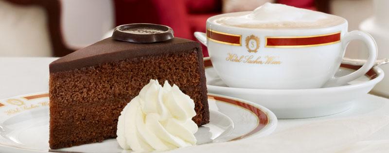 Wiener Kaffeehäuser Café Sacher Sacher Torte
