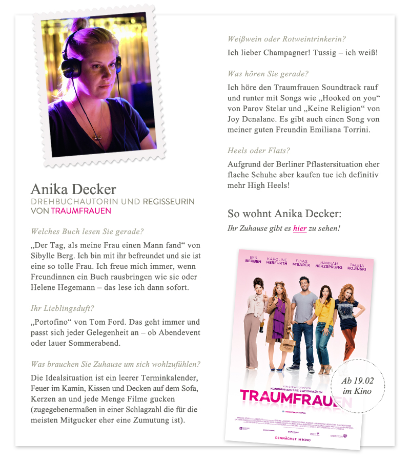 Anika Decker im Interview Westwing Traumfrauen