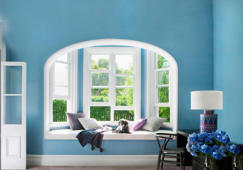 Trendfarbe Blau Jugendstil Zimmer