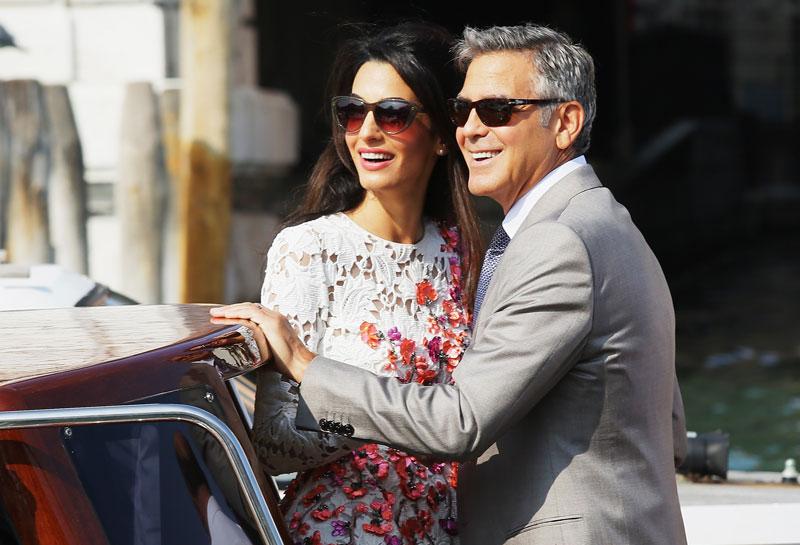 Promi-Paare George und Amal