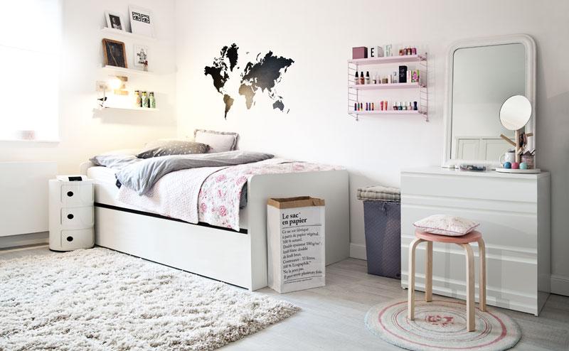 butiksofie Kinderzimmer Bett Sideboard