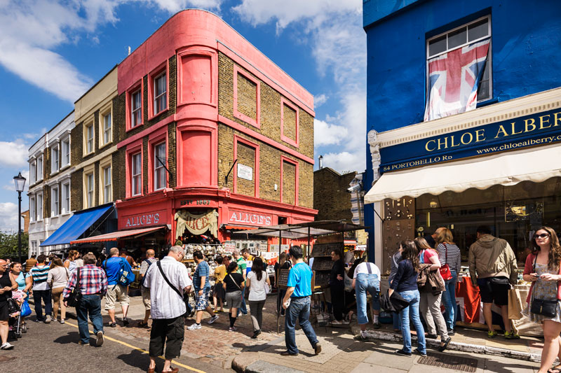 Notting Hill Markt Portobello Road