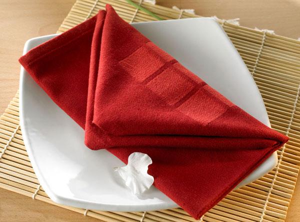 Küche Serviette rot