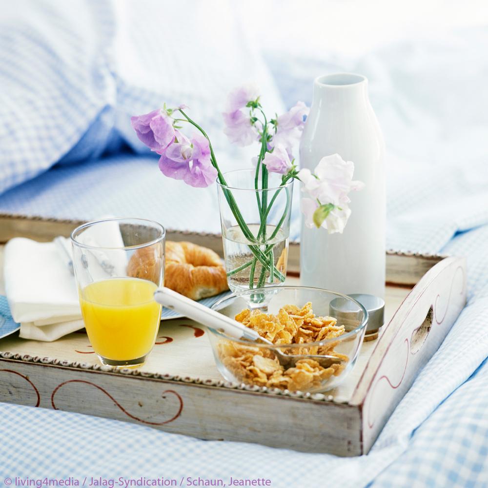 Inspiration des Tages Frühstück Tablett