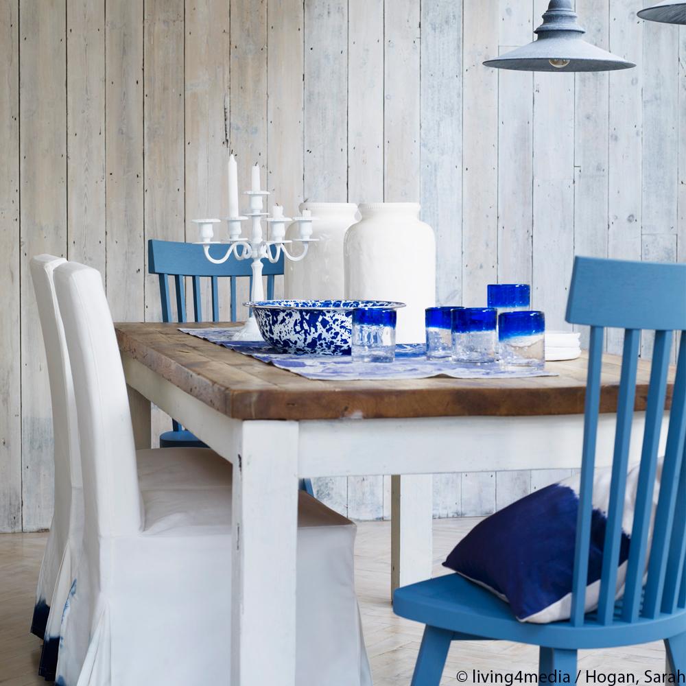 Maritimer Essplatz: blau-weiße Inspiration | Westwing Magazin