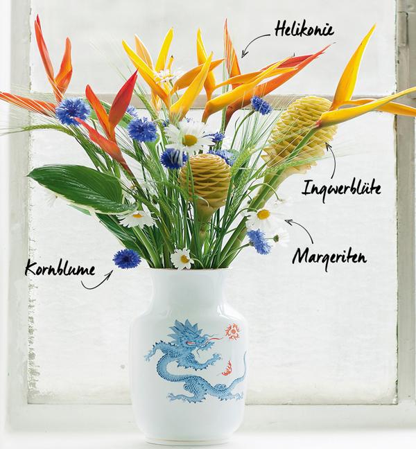 Frühling Blumendekoration Helikonien
