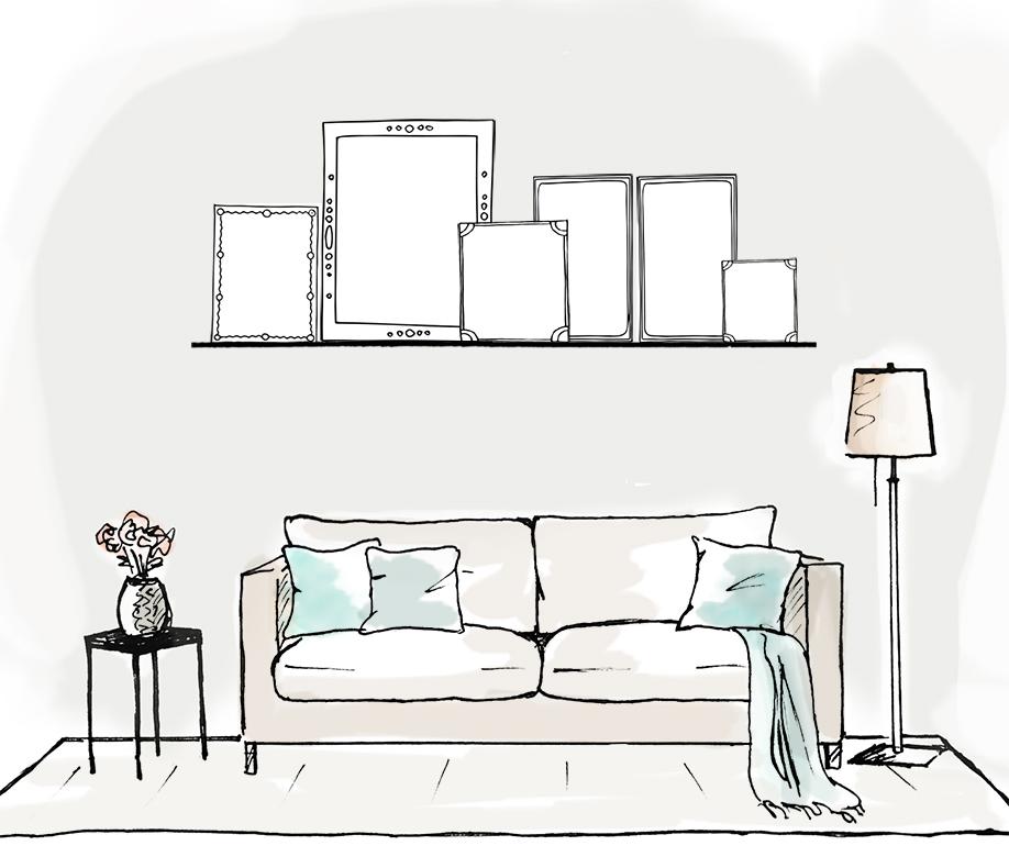 eine bilderwand f r zuhause wie es geht im westwing magazin. Black Bedroom Furniture Sets. Home Design Ideas