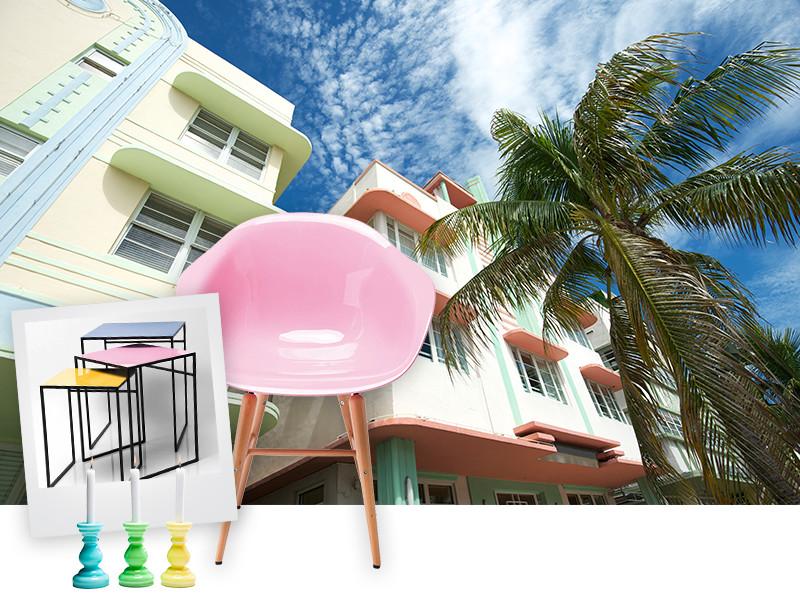 Miami Pastellfarben