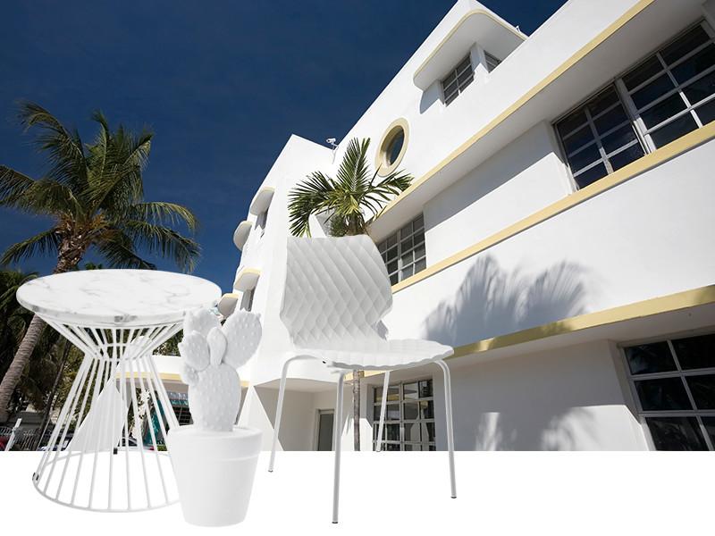 Miami weiße Häuser