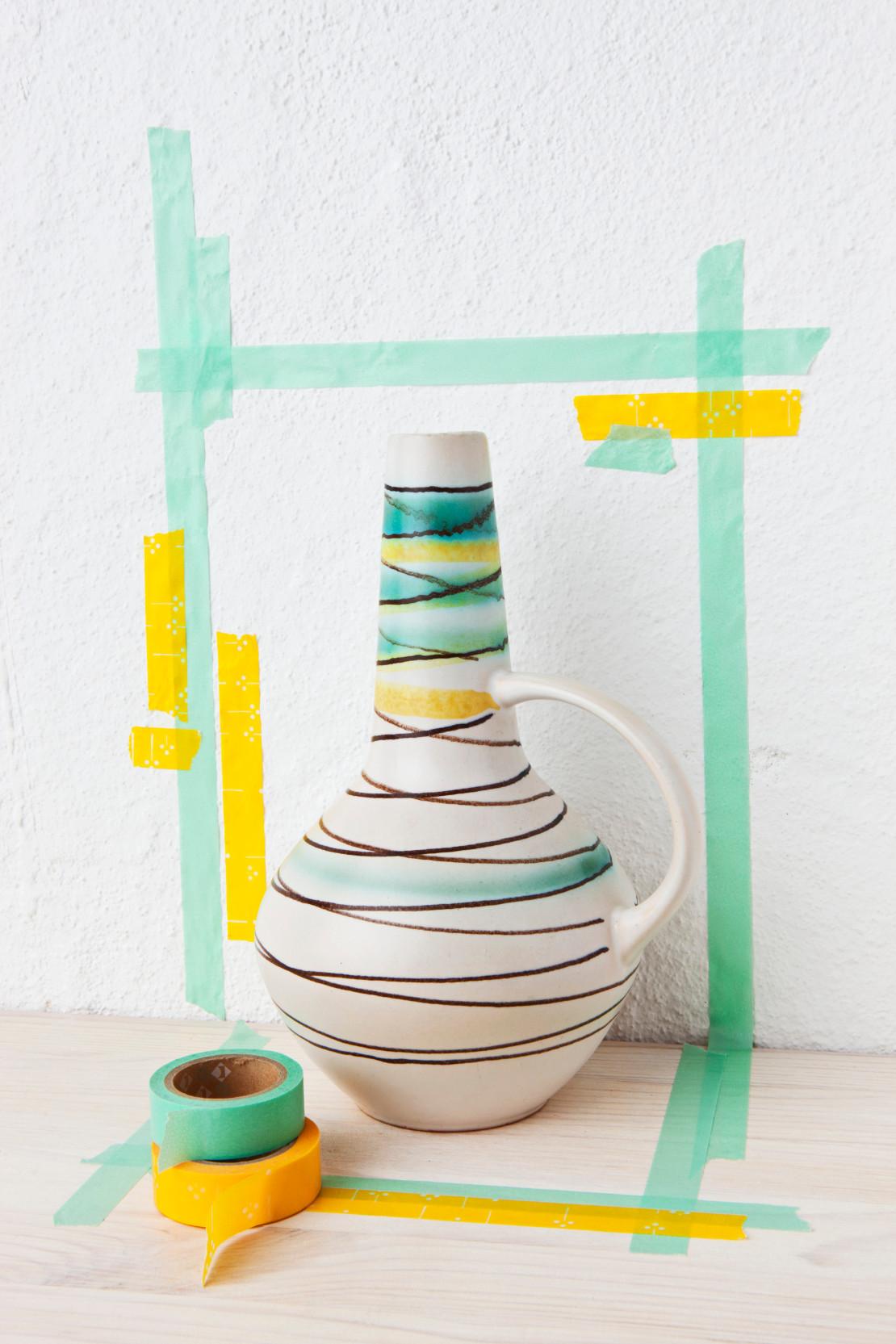 keramik-vase-gruen-gelb
