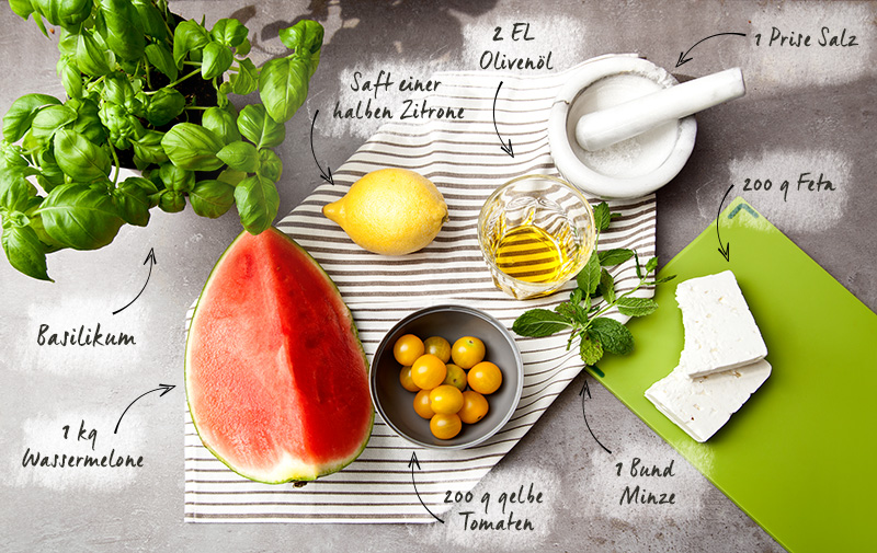 Rezept Feta-Wassermelonen-Salat Westwing