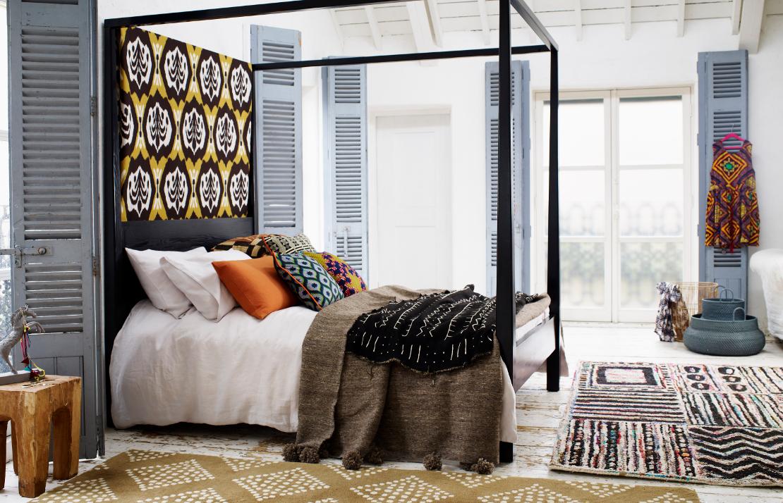 modern-tribal-schlafzimmer-bunt