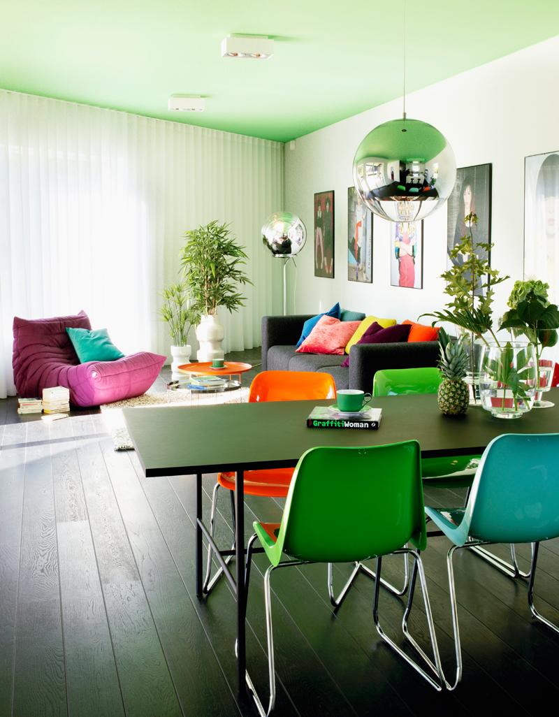 Westwing-Bunt wohnen-Decke grün