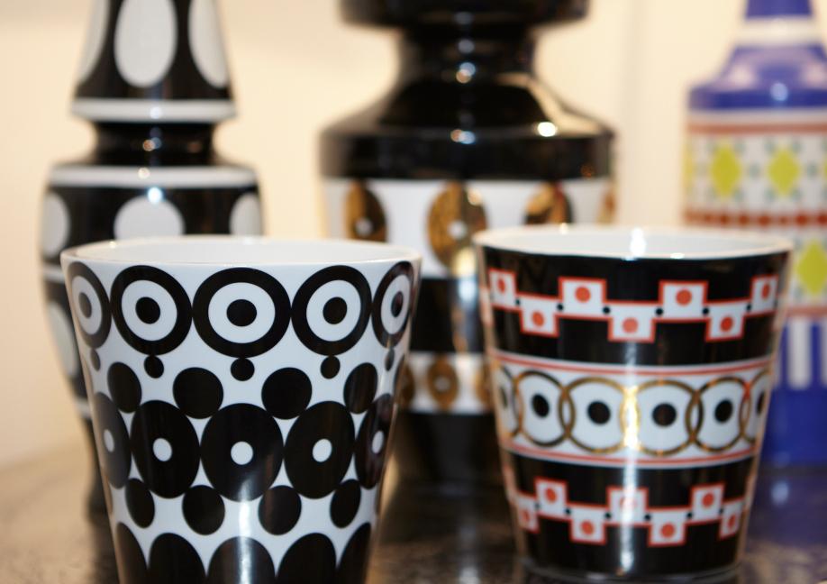 Westwing - de Luca - Vase Schwarz-Weiß