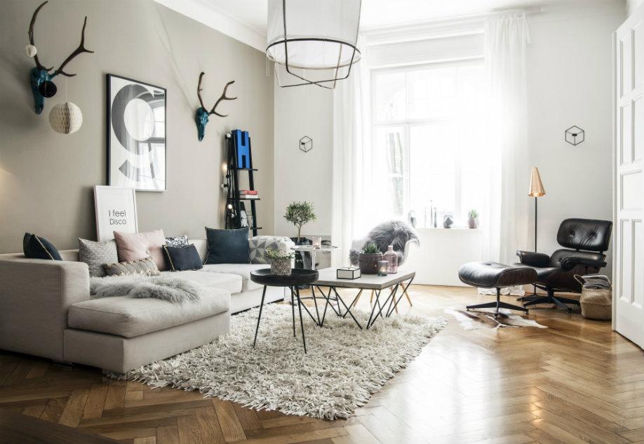 Hochwertig Westwing Pastell Scandi Wohnzimmer Weiß