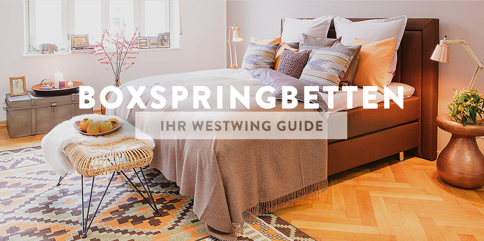 buying guide boxspringbetten westwing magazin. Black Bedroom Furniture Sets. Home Design Ideas