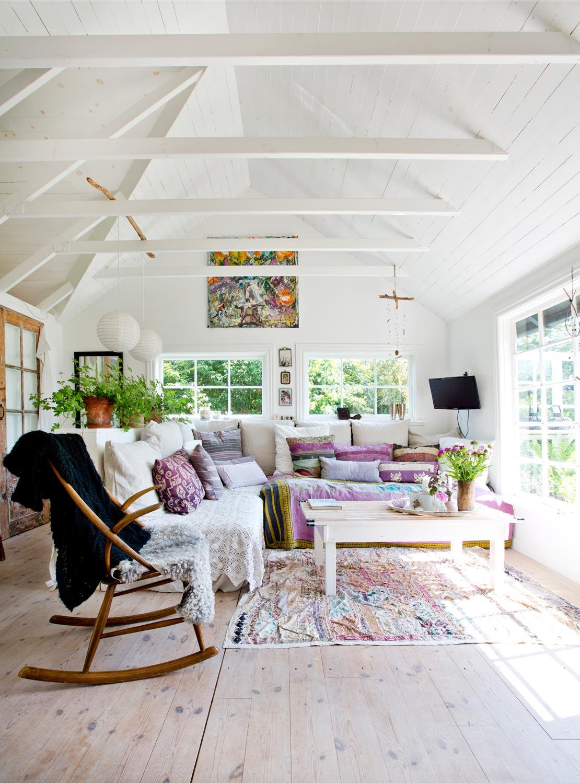 Karibik Style Einrichtung schaukelstuhl Sofa hell