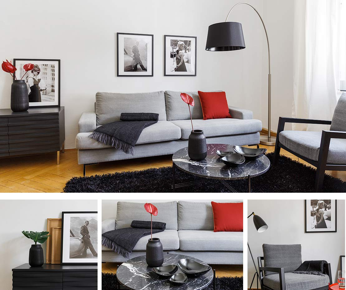 1 sofa 4 looks for Marmortisch modern