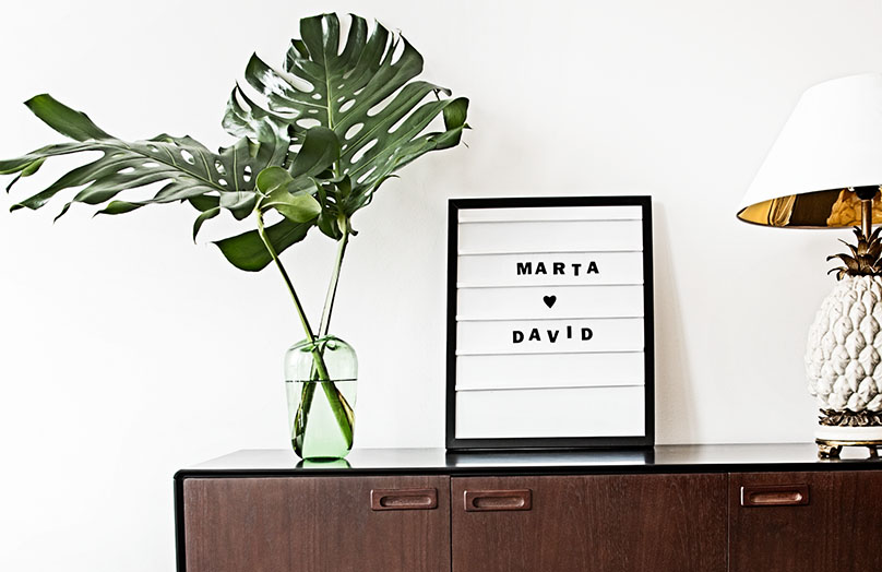 Sags mit dem DIY Letter Frame