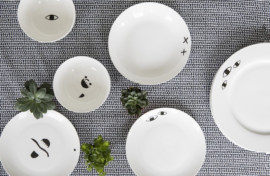 geschirr-mit-porzellan-sticker-schwarz-weiß