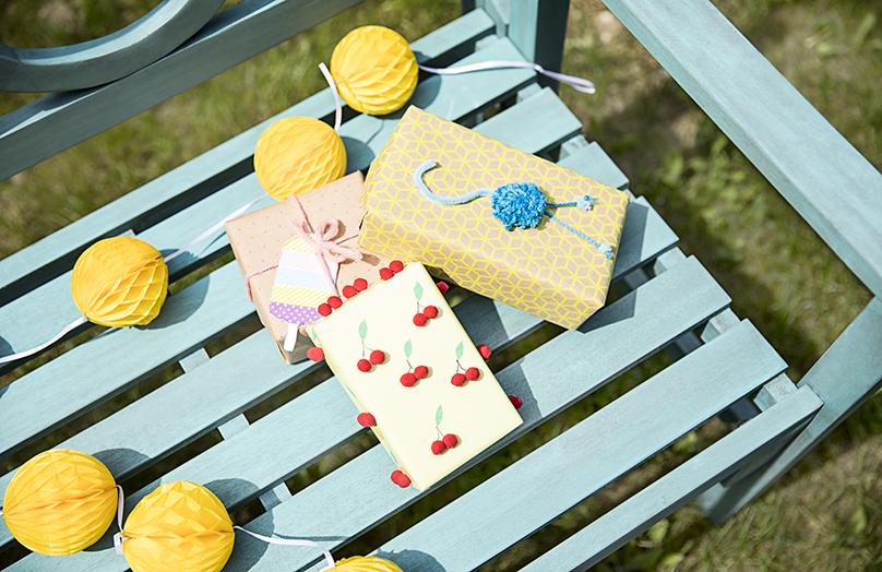 DIY Sommer Geschenkverpackung