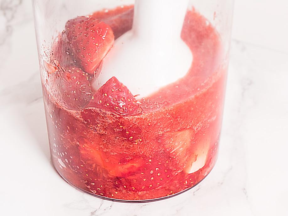limonada de fresa casera puré