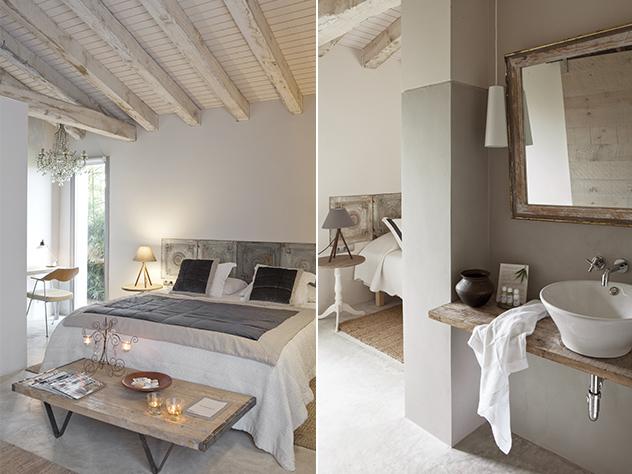 Los colchones, los somieres, la ropa de cama, y las toallas de Les Hamaques están realizados con materiales naturales