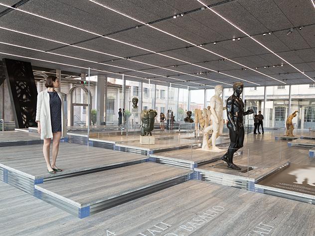Interior de la Fundación Prada de Milán.