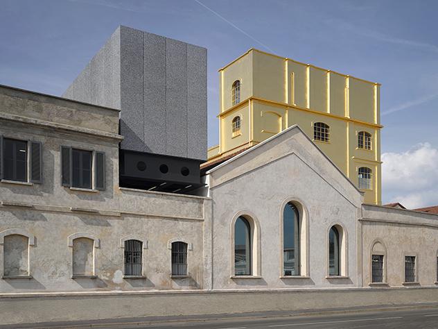 Arquitectura de la Fundación Prada de Milán.