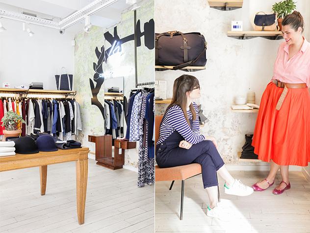 Elise Simian Karsent, Directora de Estilo de Westwing Francia,  disfrutando de una agradable tarde de shopping en el Centro Comercial de la rue de Marseille.