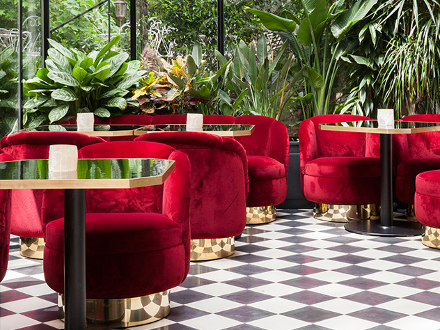 Restaurante del Hotel Particuler.